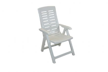 SupaGarden Multi Position Armchair - White